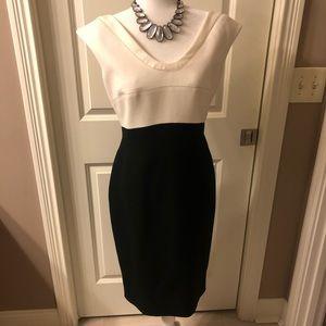 Classy Escada dress In black and white
